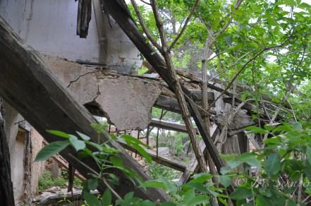 eingefallenes Dach in Peguera