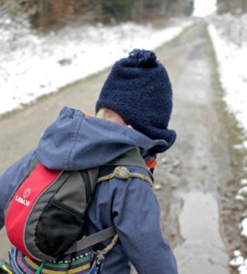Raus in den Schnee und ab in die Pfützen