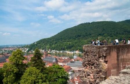 Blick von der Schlossruine auf Heidelberg