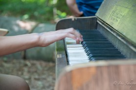 Klavier im Wald auf der Landesgartenschau in Bad Iburg