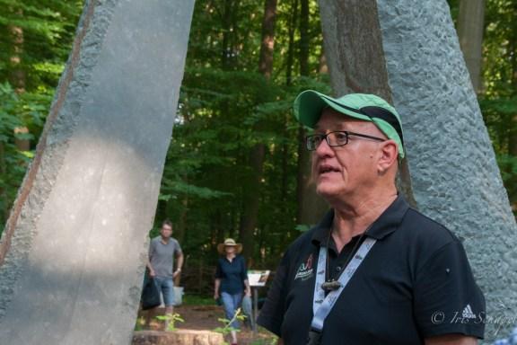Michael Fischer am Steintor vor der Waldlichtung, Waldbaden in Bad Iburg