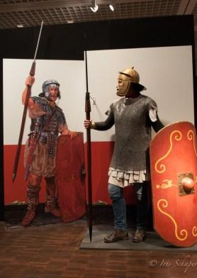 Als römische Legionarin in der Sonderausstellung Museum Kalkriese