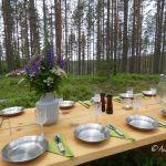 Värmland: Tafeln im schwedischen Wald