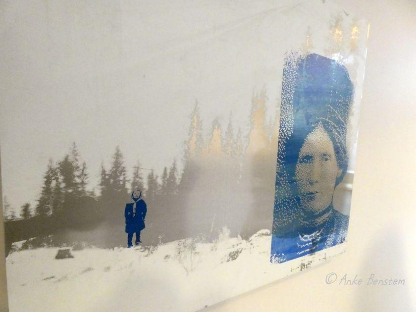 Kunstwerk mit Elsa Laula Renberg