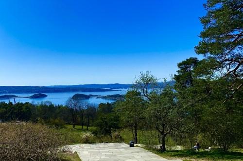 Utsikt over Oslofjorden fra Ekeberg