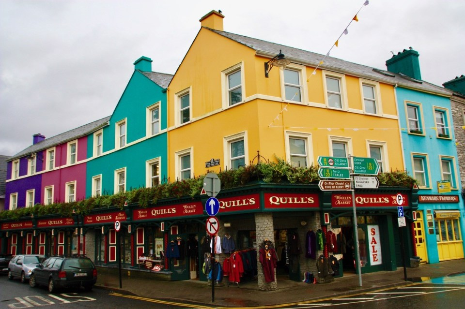 Colorful houses in Ireland