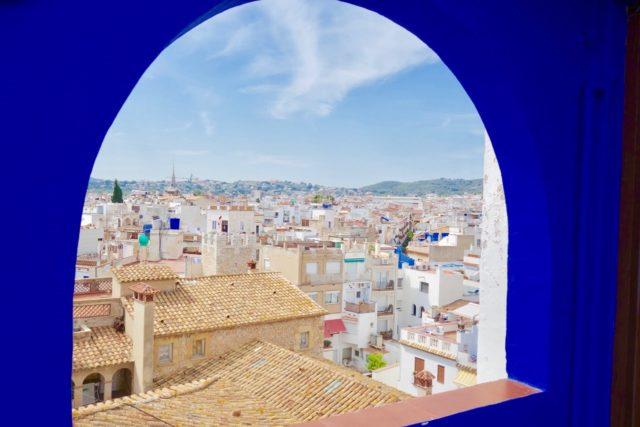 Sitges utsikt over byen