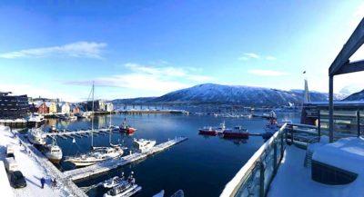 Utsikt fra Clarion Hotell Aurora Tromsø