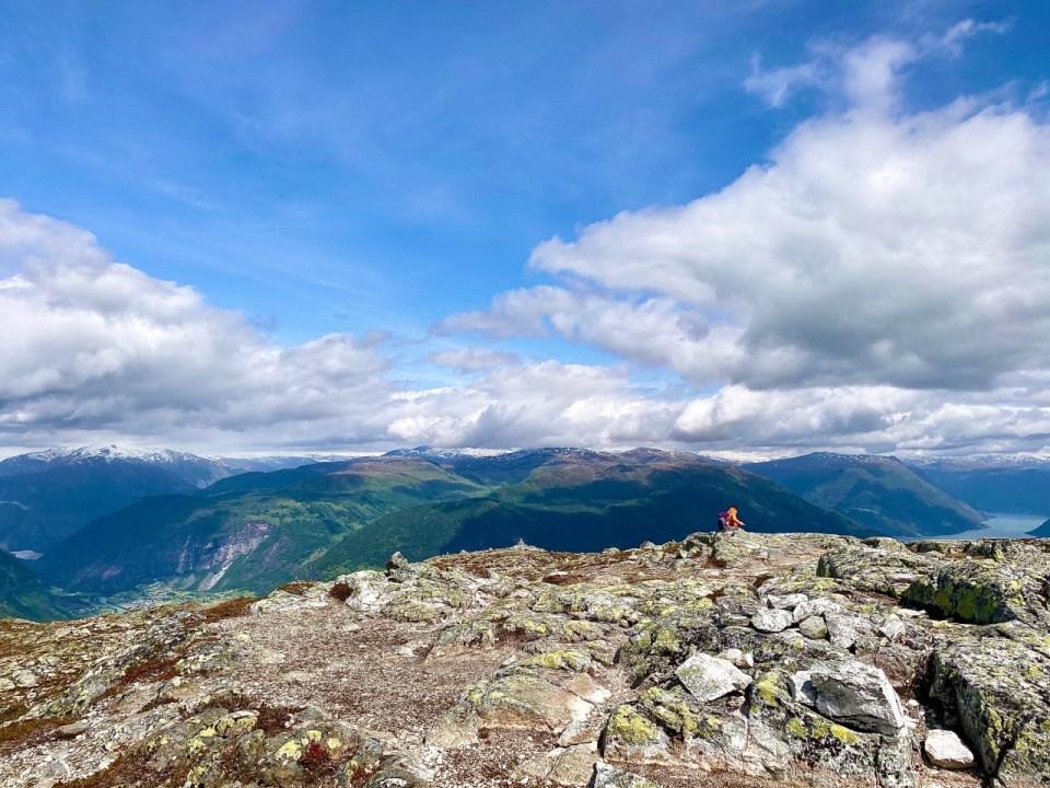 Utsikt fra toppen av molden