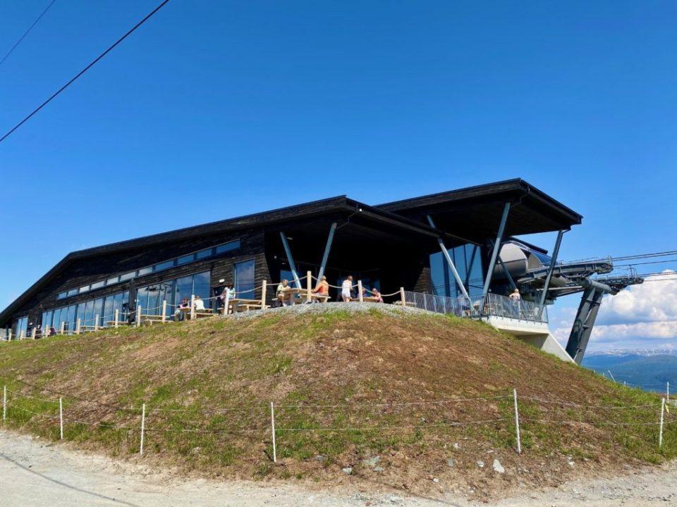 Restauranten på toppen av Voss Gondol