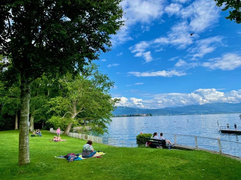 Badeplass ved Bodensjøen