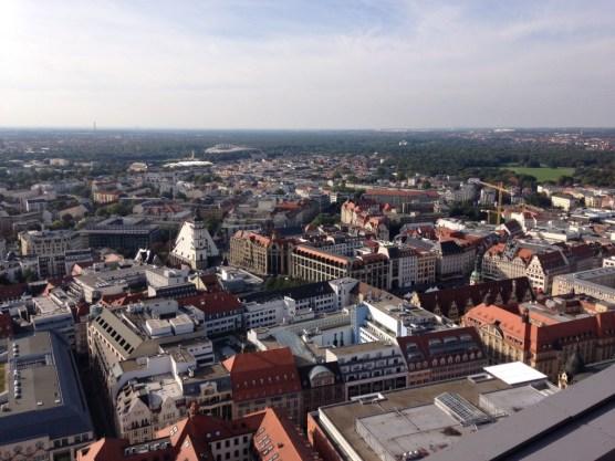 Aussicht vom Uni Riese Leipzig