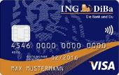Visa Kreditkarte der ING Bank