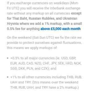 Komplizierte Wechselkurs-Ausnahmen der Revolut