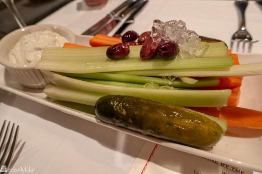 Grønnsaker hos Keen's Steakhouse