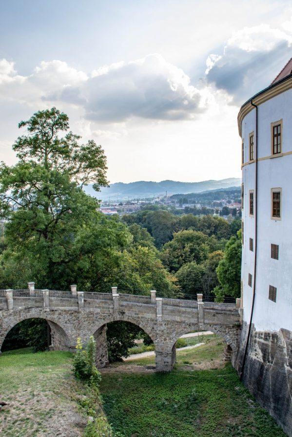 Vollgrav ved slottet i Děčín