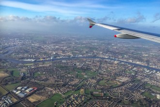 Fly over London