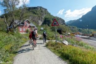 På sykkel mot Myrdal stasjon