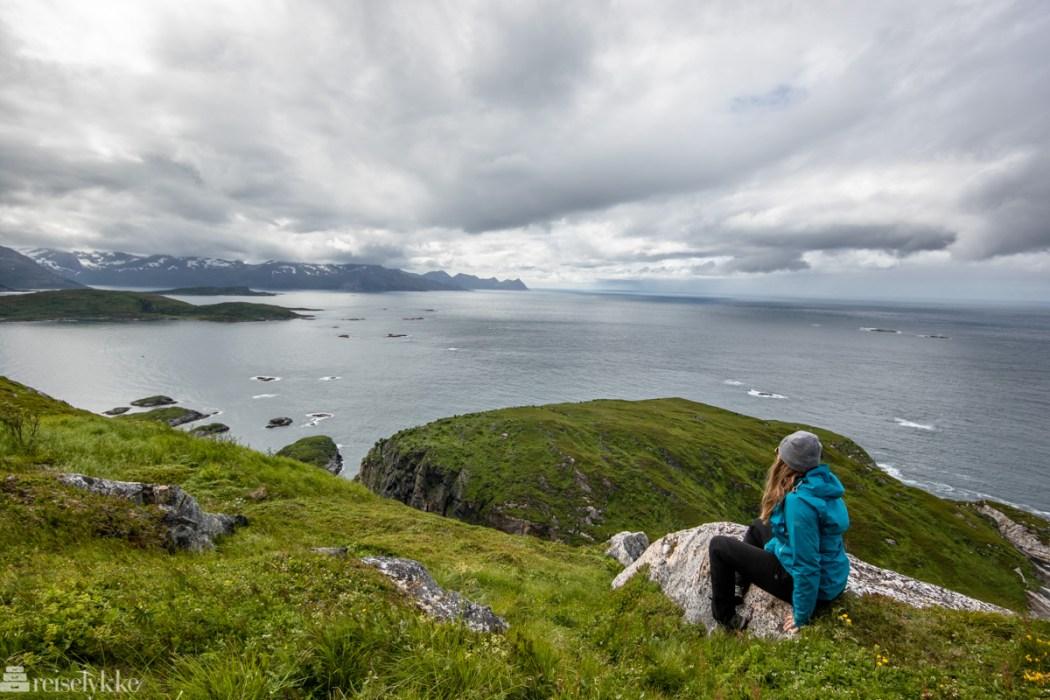 Utsikt fra toppen av Hillesøy fjell
