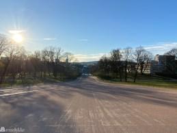 Utsikt fra slottsplassen i Oslo