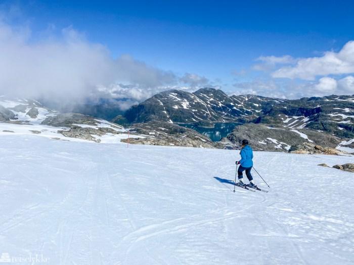 Alpint på en isbre