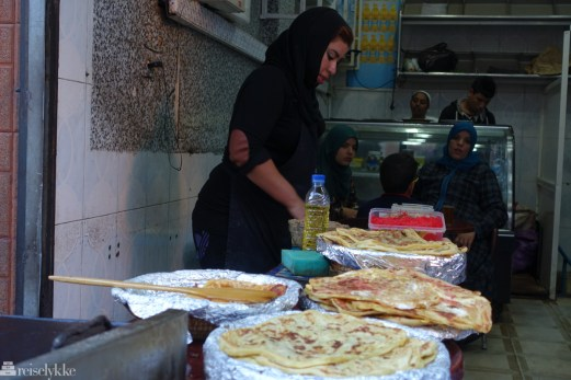 Lokalmat i produksjon i Marrakech