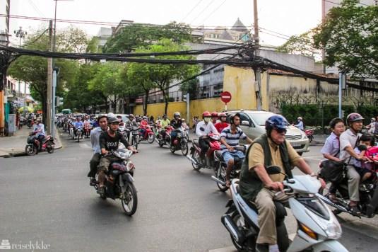 Vietnam: Trafikk i Ho Chi Minh-byen