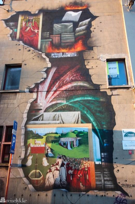 Streetart i Ghent