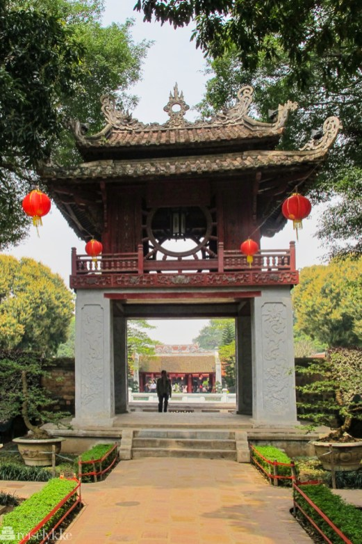 Vietnam: Temple of Literature i Hanoi