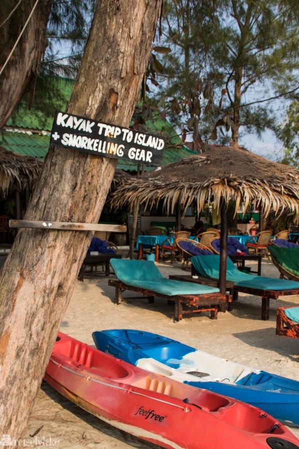 Kayak Otres beach Sihanoukville