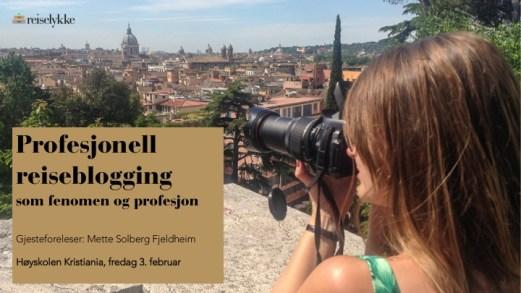 Kurs i Profesjonell reiseblogging