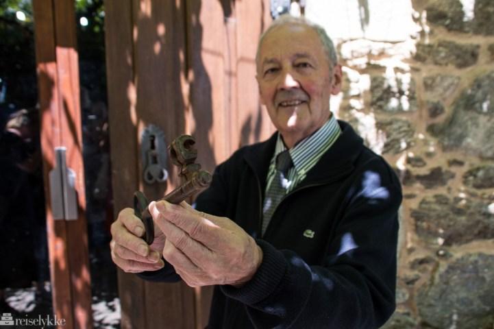Nøkkel til vinkjelleren hos Pazo de Galegos