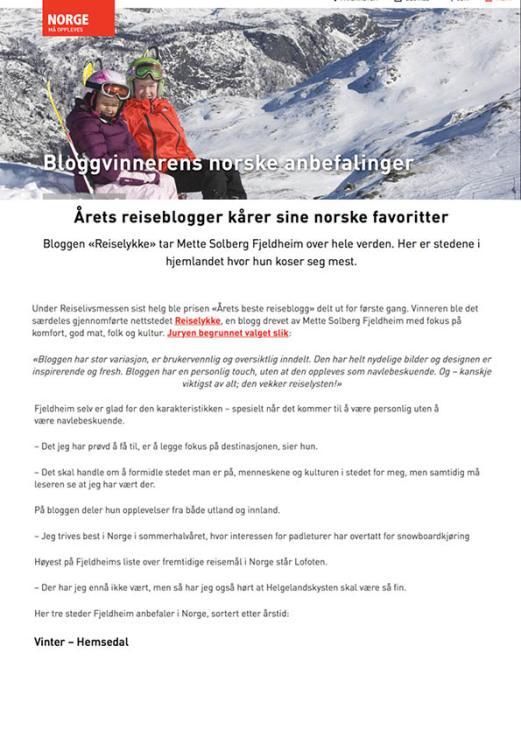 Reiselykke i media_Visit Norway_no_2