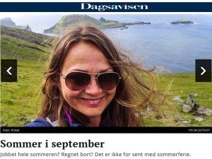 Sommer i september, Dagsavisen