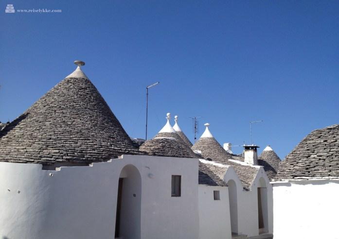 Typiske trulli-hus i Alberobello