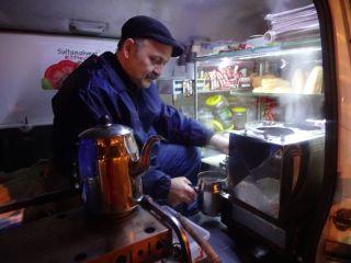 Kaffekoker i campingvogn i Istanbul Foto: Reiselykke