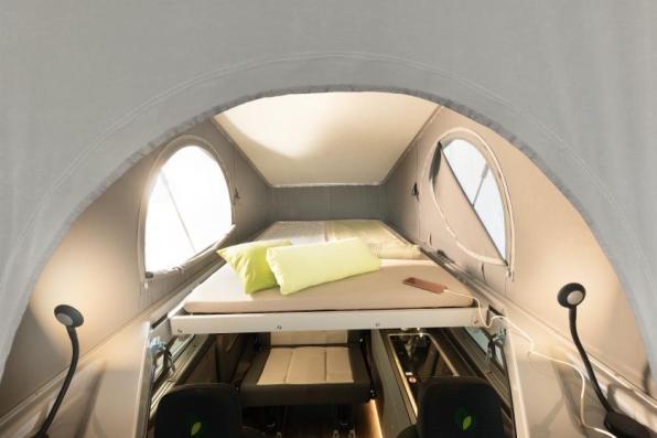 Hubbett im Dethleffs Globevan eHybrid Reisemobil | Credits: Dethleffs
