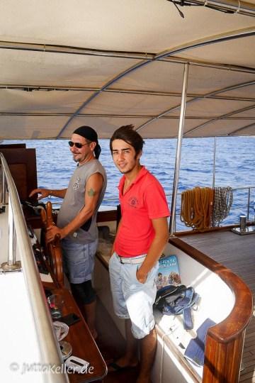 Zwei der vierköpfigen Crew, auf die Verlass ist.
