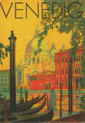 """Tourismus-Werbung VENEDIG um 1920, aus der Ausstellung """"Gute Reise - bon voyage"""" im Schloss Bruchsal 2011"""