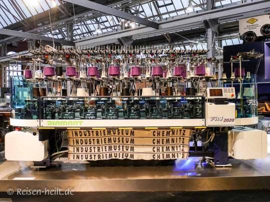 Die Flachrundstrickmaschine war zehn Jahre in Belgien im Einsatz.
