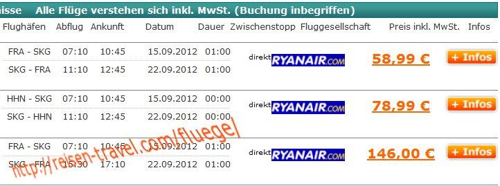 Billigflug nach Saloniki im Preisvergleich Ryanair Airberlin