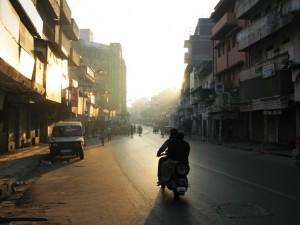 Sonnenaufgang in Ahmedabad