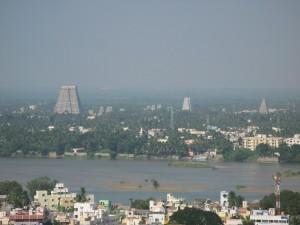 Blick nach Srirangam