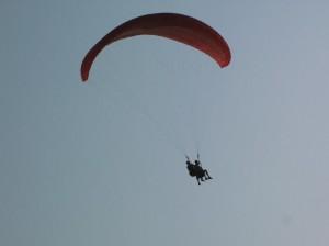 Da bin ich in der Luft