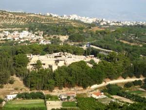 Blick auf Knossos