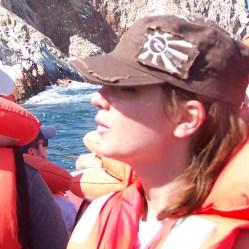 Kati im Boot