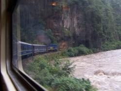 Rückfahrt mit dem Zug von Aguas Calientes nach Cuzco