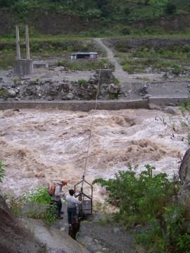 Die Seilbahn über den Rio Urubamba