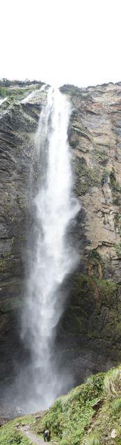 Der 700 Meter hohe Wasserfall (unterer Teil)