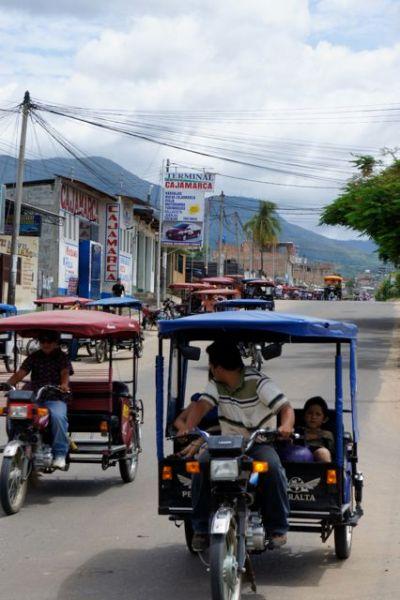 Motorradtaxis in Tarapoto